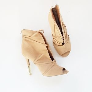 QUPID Strappy booties heels size 8